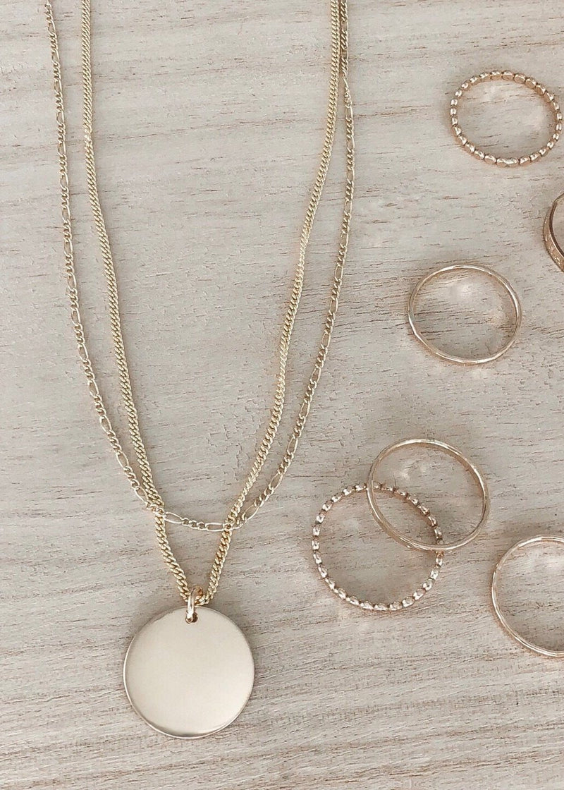 Plain Coin Necklace - James Michelle