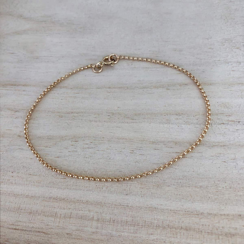 Rolo Chain Anklet - James Michelle