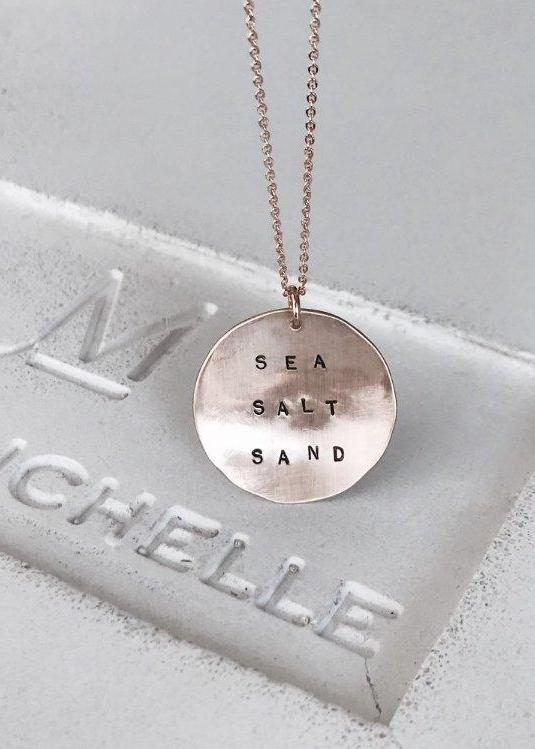 Sea Salt Sand Coin Necklace - James Michelle