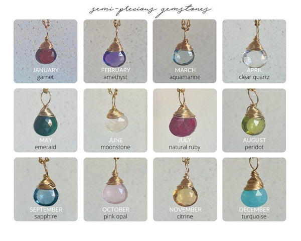 Semi-Precious Gemstones - Birthstone - James Michelle