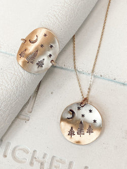She is Wild Ring and Necklace Set - James Michelle