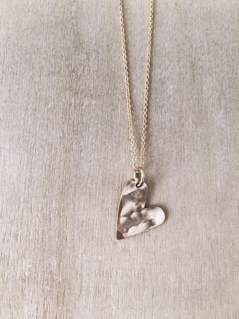 Sideways Heart Necklace - James Michelle
