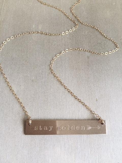 Stay Golden Bar Necklace - James Michelle