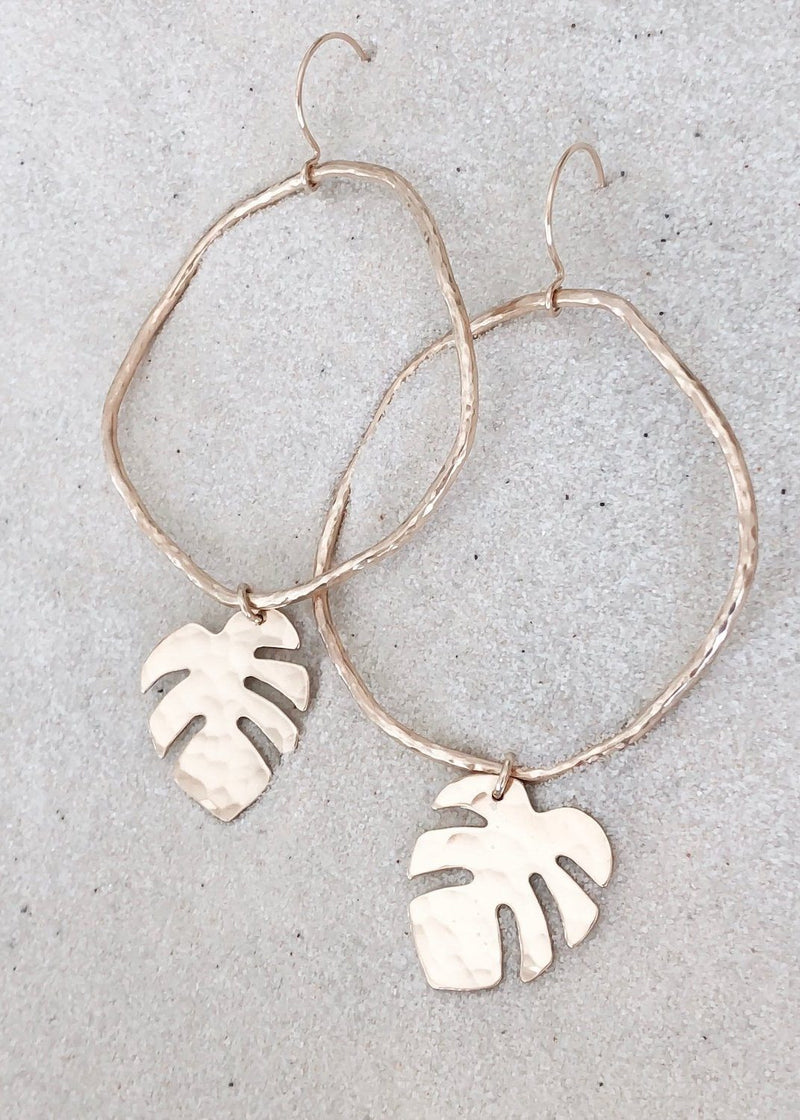 Tropical Leaf Earrings - James Michelle