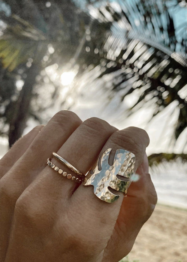 Tropical Leaf Ring - James Michelle