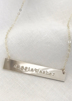 Two Name Bar Necklace - James Michelle