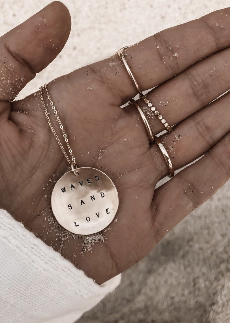 Waves Sand Love Necklace - James Michelle