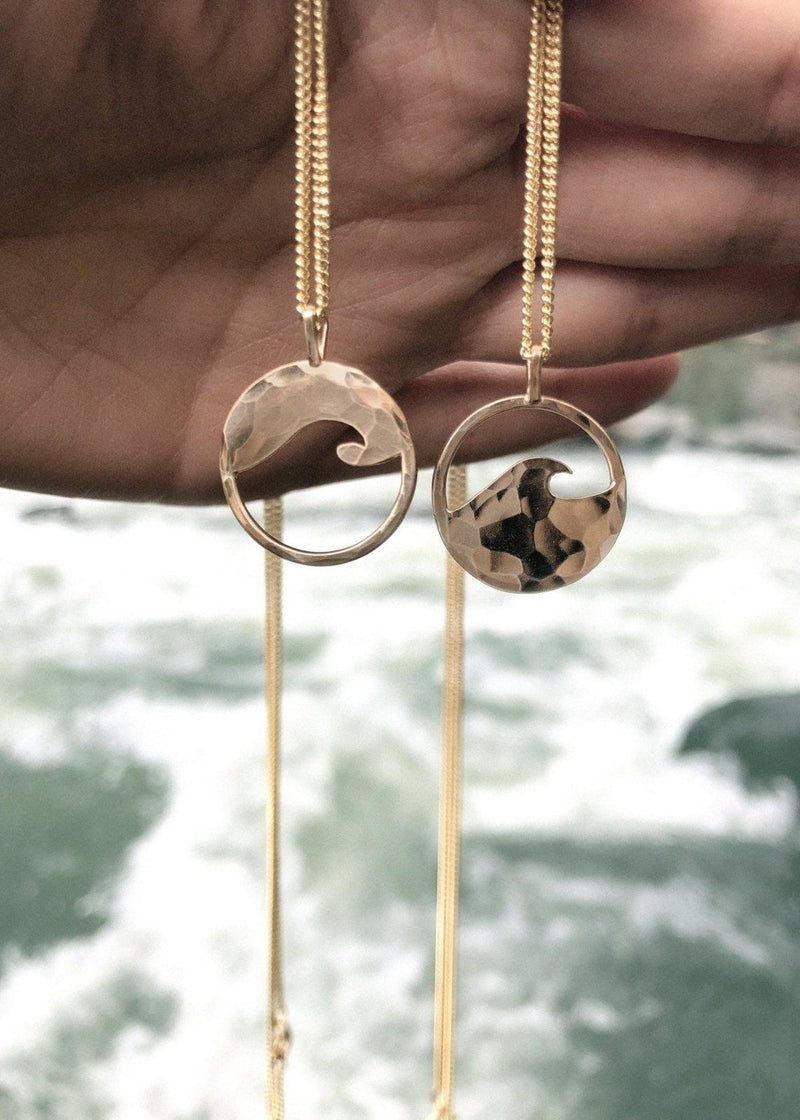 Yin Yang Little Wave Necklace Set - James Michelle