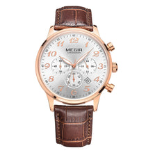 Load image into Gallery viewer, MEGIR 3781 Male Japan Quartz Watch with Date Function Working Sub-dial