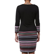 Load image into Gallery viewer, V-Neck Striped Long Sleeve Dress