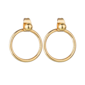 2020 New Trendy Fashion Metal Elegant Earring Woman Vintage Gold Color Cheap Round Statement Earrings Accessories brincos