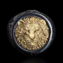 Load image into Gallery viewer, CHUHAN Vintage Punk Rock Domineering Lion Head Rings for Men Hip Hop Gold Color Lion Finger Ring Luxury Knight Jewelry