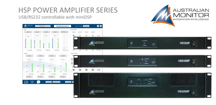 HSP Series USB/RS232 Controllable Power Amplifiers