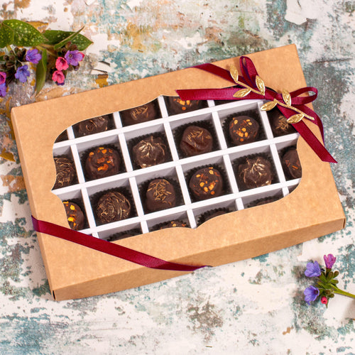 24 Vegan Gluten-Free Hand-Made Spicy Gourmet Truffle Chocolates