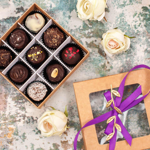 Box Of 9 Vegan Gluten-Free Hand-Made Truffle Chocolates