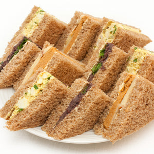 Sandwich Platter: Smoked Cashew Cheese with Apple /  Black Olive and Bean Pate / VEGG Mayo Salad