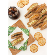Load image into Gallery viewer, Sandwich Platter: Smoked Cashew Cheese with Apple /  Black Olive and Bean Pate / VEGG Mayo Salad