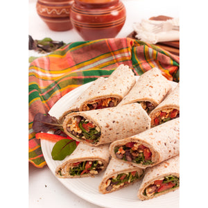 Black Bean and Cheese Salsa Wrap Platter
