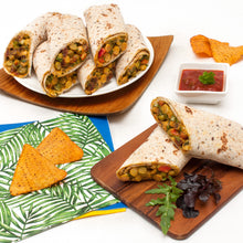 Load image into Gallery viewer, Spicy Chickpea Curry Wrap Platter