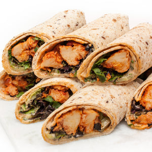 Vegan-Chicken and Salad Wrap Platter