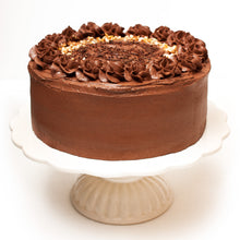 "Load image into Gallery viewer, Large Chocolate Cake. 9"" Triple layer."