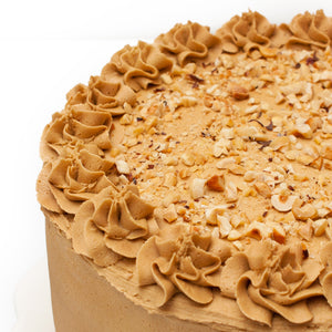 "Large Coffee and Walnut Cake. 9"" Triple layer."