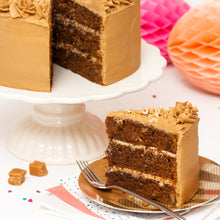 "Load image into Gallery viewer, Large Coffee and Walnut Cake. 9"" Triple layer."
