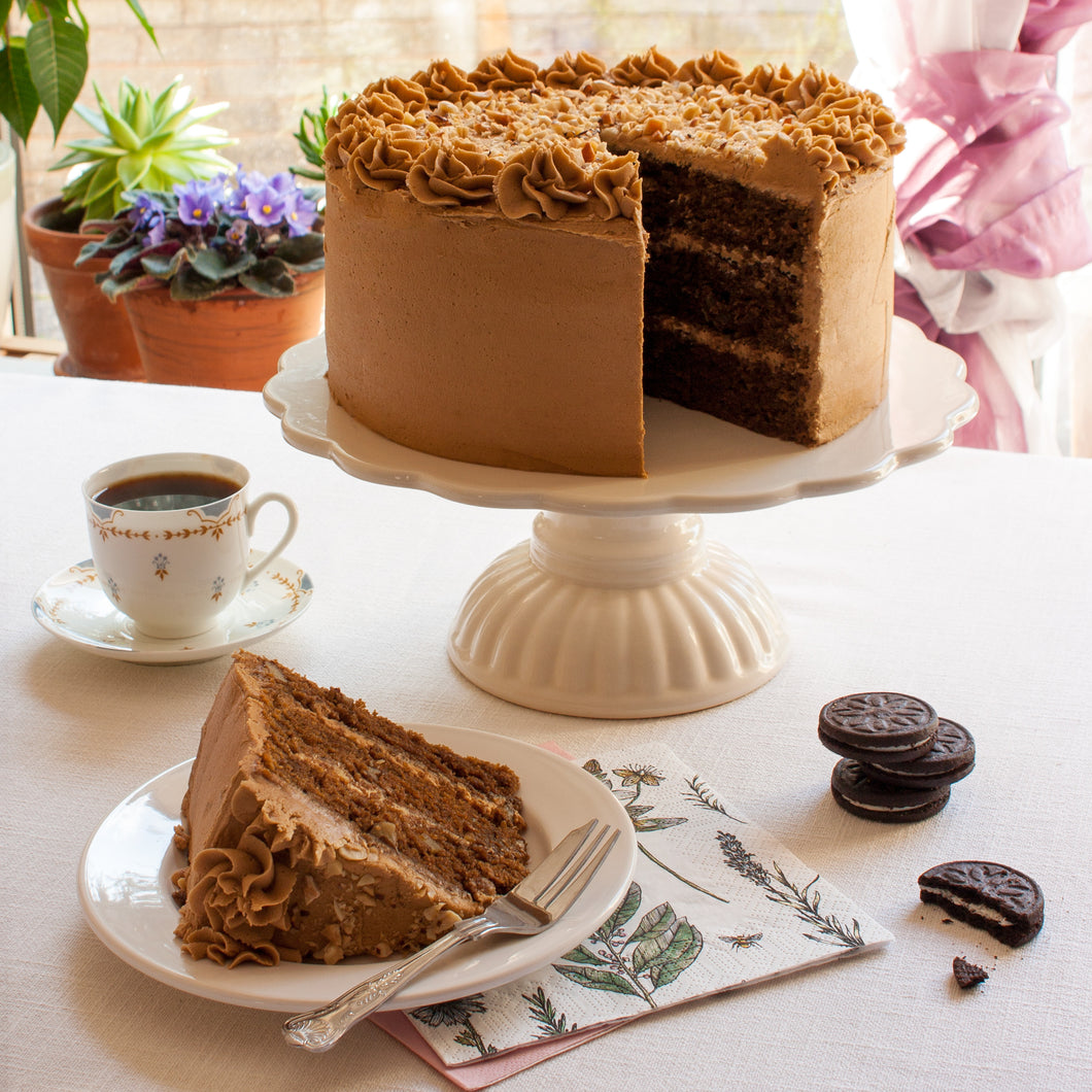 Large Coffee and Walnut Cake. 9