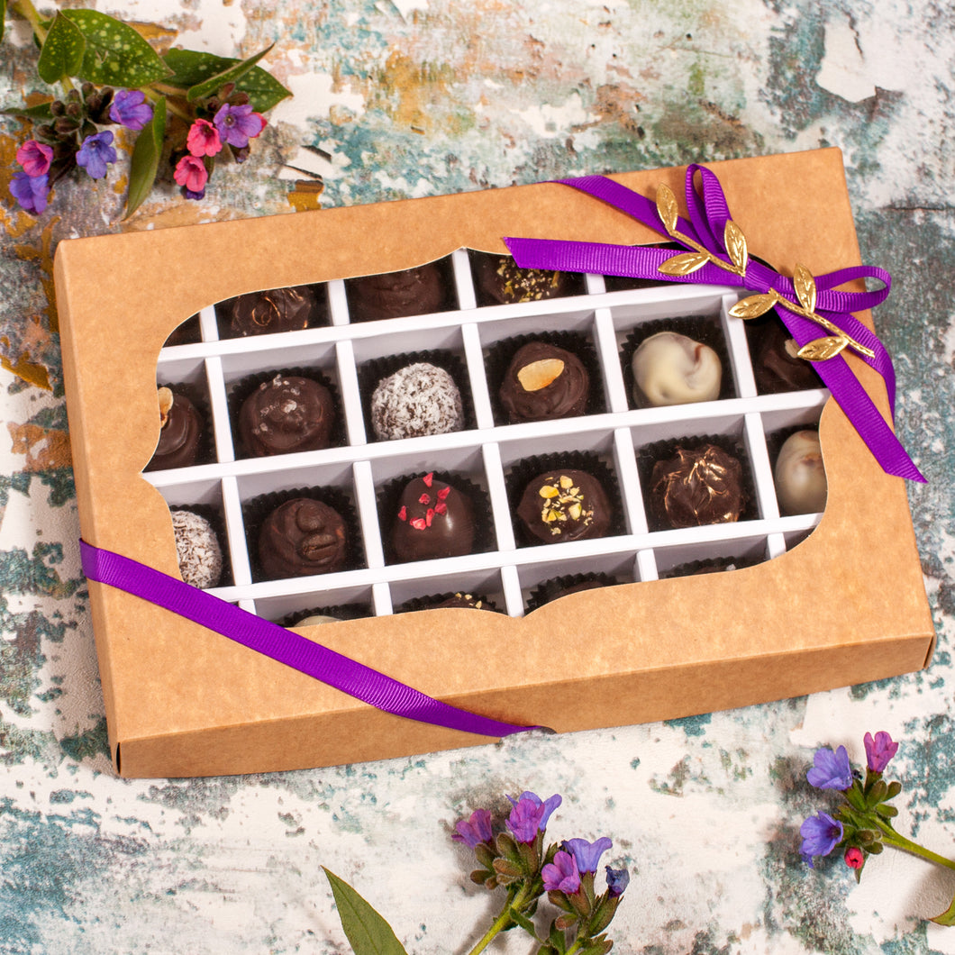 Box Of 24 Vegan Gluten-Free Hand-Made Gourmet Truffle Chocolates
