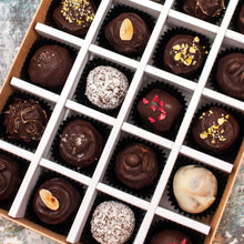 Load image into Gallery viewer, Box Of 24 Vegan Gluten-Free Hand-Made Gourmet Truffle Chocolates