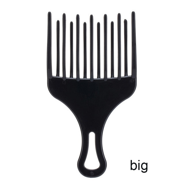 1Pc Hair Comb Insert Afro Hair Pick Fork Comb Plastic High Low Gear Comb Hair Accessories Hairdressing Styling Tool