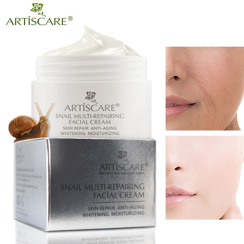 ARTISCARE Snail Repair Facial Cream Aging Aniti Oil-Control Face Cream Anti Wrinkle Shrink Pores Moisturizing Lifting Skin Care