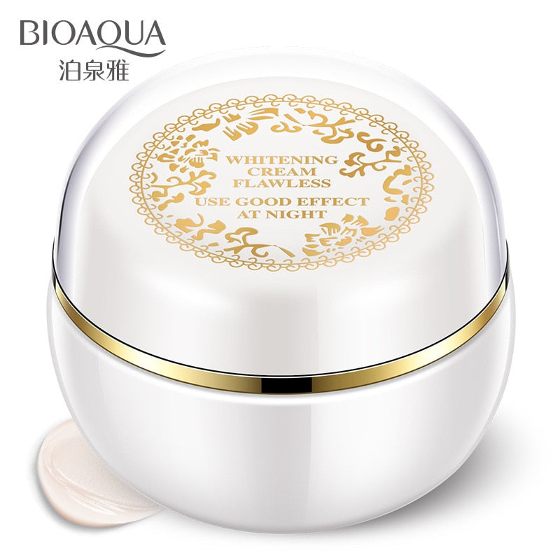BIOAQUA Face Whitening Cream For Dark Skin Spots Scars Snow White Cream Day Night Face Cream For Skin Whitening Korean Skin Care