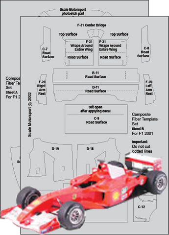 F1 2001 Composite Fiber Template Set Sku#: 7017