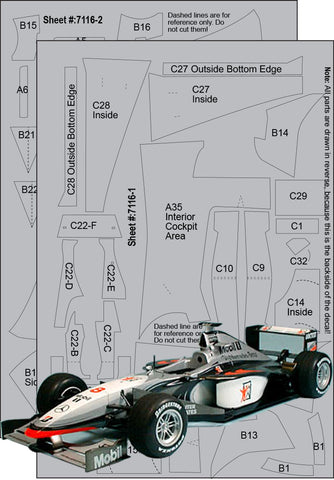 McLaren Mercedes MP4/13 CFT Set Sku#: 7116