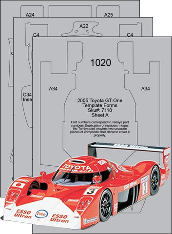 Toyota GT-One TS020 CFT Set Sku#: 7118