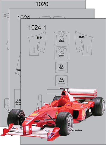 Ferrari F1 2000 Composite Fiber Template Set Sku#: 7119