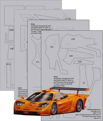 McLaren F1 GTR 1997 LT Full Carbon Jacket Sku#: 7142