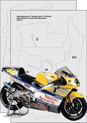Honda NSR 500 Carbon Fiber Template Set Sku#: 7210