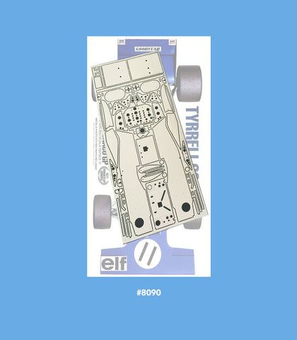 Tyrrell 003 Monaco GP 1:12th Scale Photoetch Set Sku#: 8090