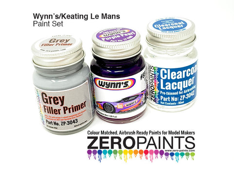 Wynn's/Keating Le Mans 3 Bottle Zero Paint Set