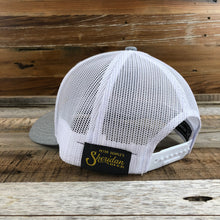 Load image into Gallery viewer, Gold SB Co. Trucker Hat - Heather Grey/White