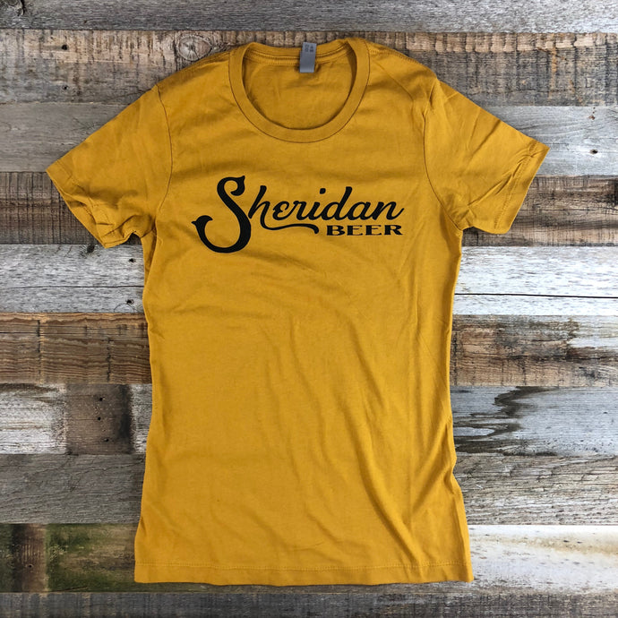 Women's Sheridan Beer Tee - Antique Gold