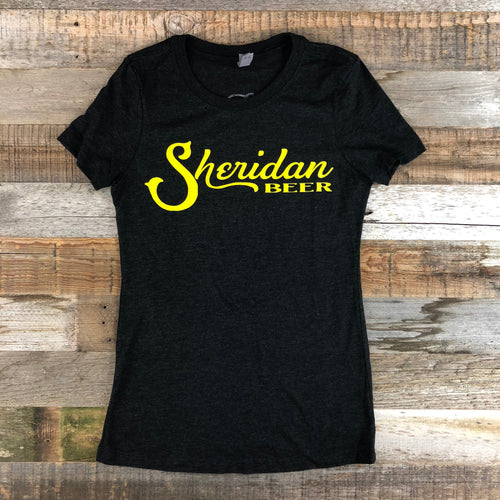 Women's Sheridan Beer Tee - Vintage Black/Gold