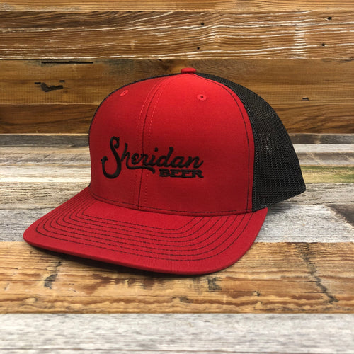 Sheridan Beer Trucker Hat - Red/Black