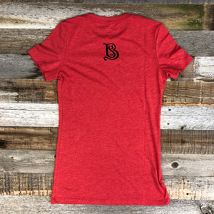 Women's Sheridan Beer Tee - Vintage Red/Black