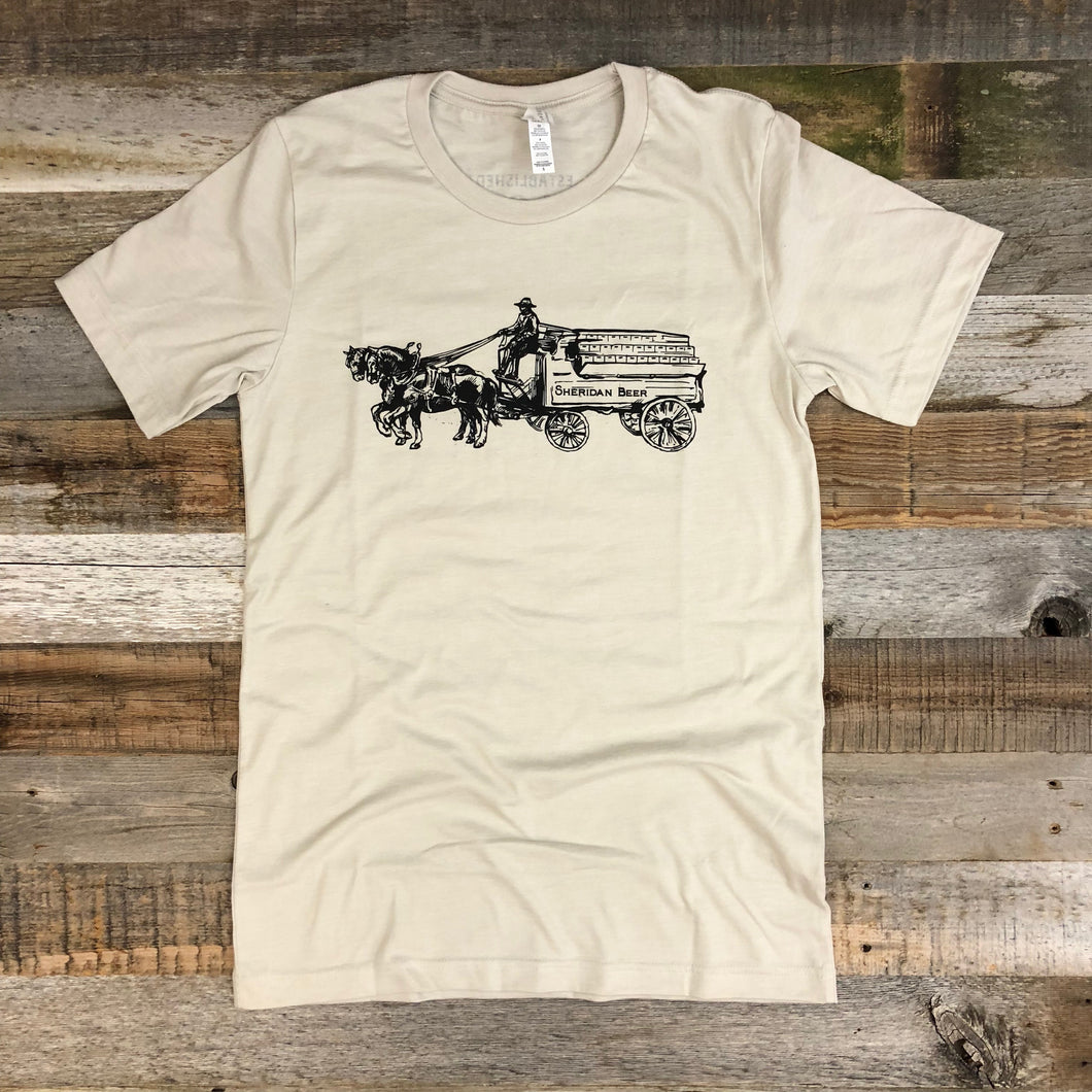 Men's Sheridan Beer Wagon Tee - Sand