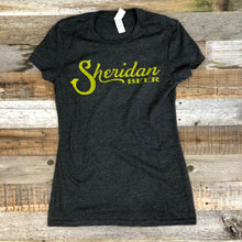 Load image into Gallery viewer, Women's Sheridan Beer Tee - Charcoal/Gold