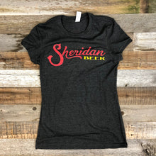 Load image into Gallery viewer, Women's Sheridan Beer Tee - Charcoal/Red