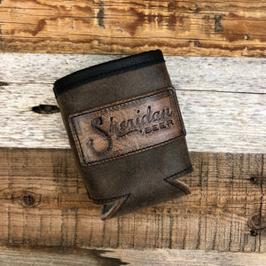 Sheridan Beer Lined Leather Koozie